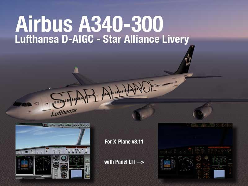 X-PLANE 821 vs Flight Simulator SA_A340-300_Big